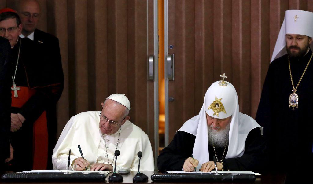 Papež in ruski patriarh: Pogovarjala sva se kot brata