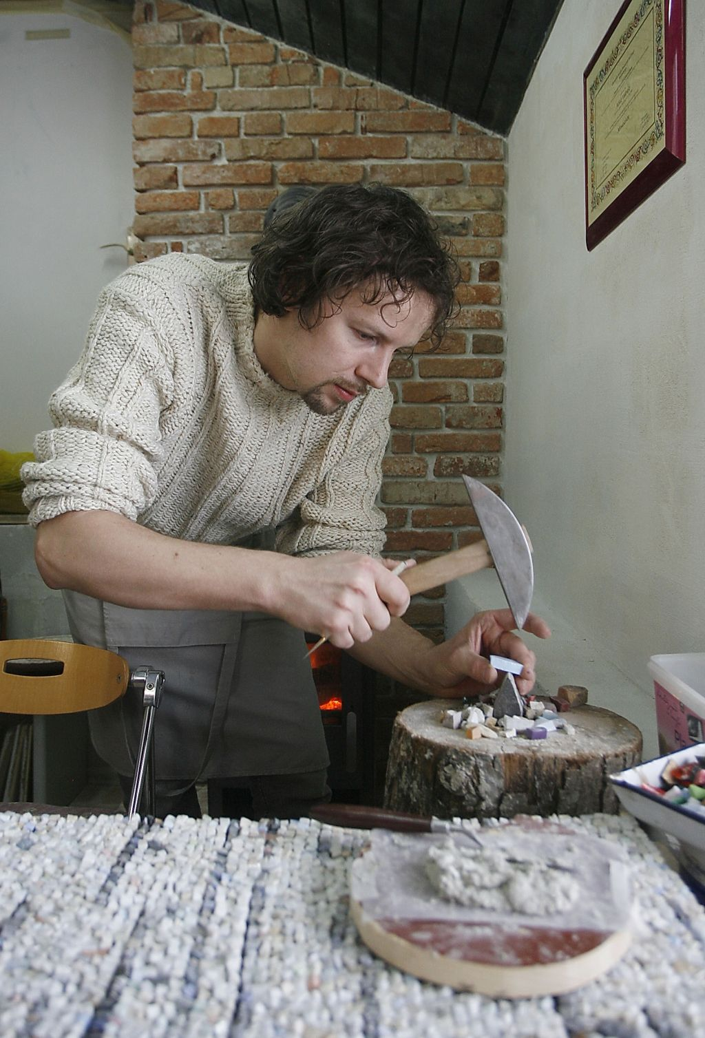 Le pravi mojster mozaika sestavi 60 tisoč koščkov