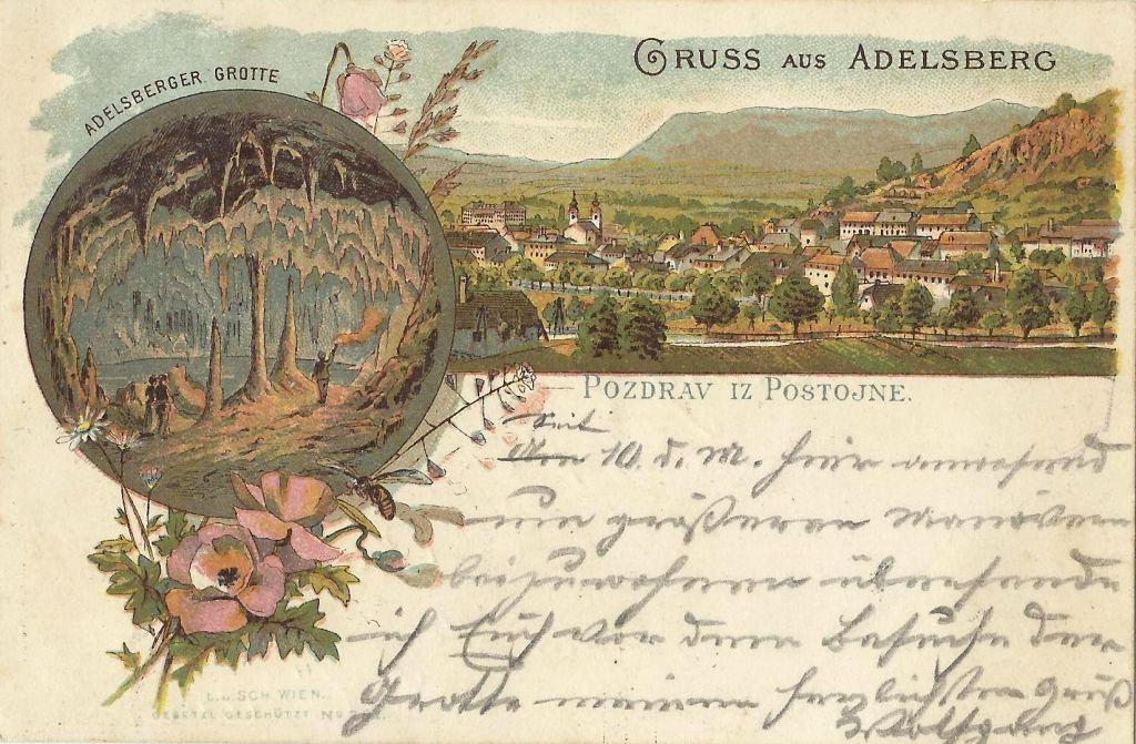 Sloves Postojnske jame so širile tudi razglednice